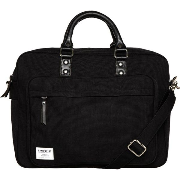 e5c87df5c83de Sandqvist PONTUS Torba na laptopa black - Czarne torby na laptopa ...