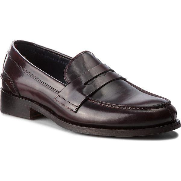 e20156272359d Półbuty TOMMY HILFIGER - Iconic Leather Loafe FM0FM01016 Burgundy ...