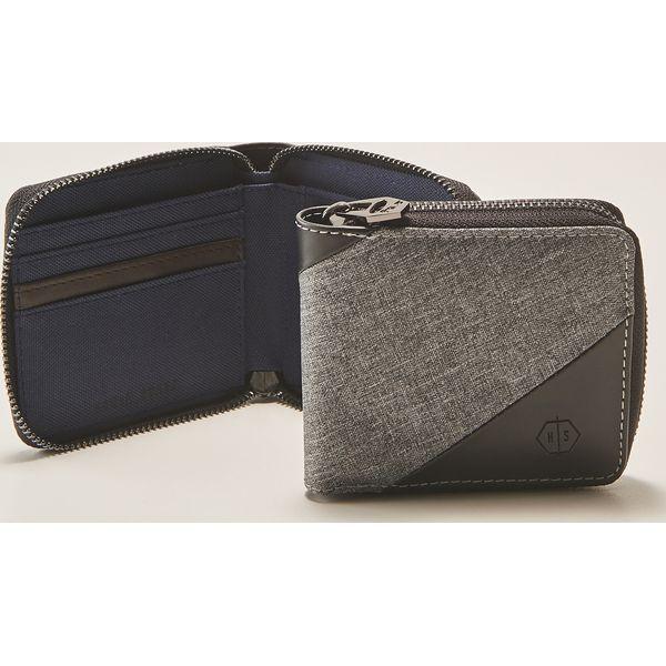 60e9bcc55fe52 Materiałowy portfel - Szary - Szare portfele męskie marki House