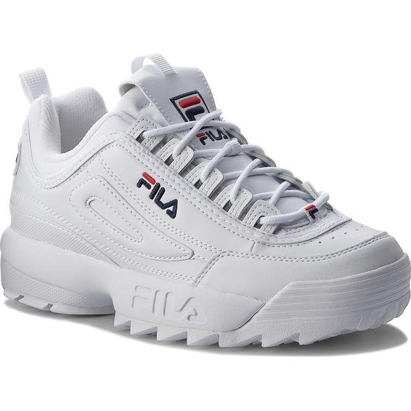 aa5a82c3 Sneakersy FILA - Disruptor Low 1010262.1FG White - Buty sportowe na ...