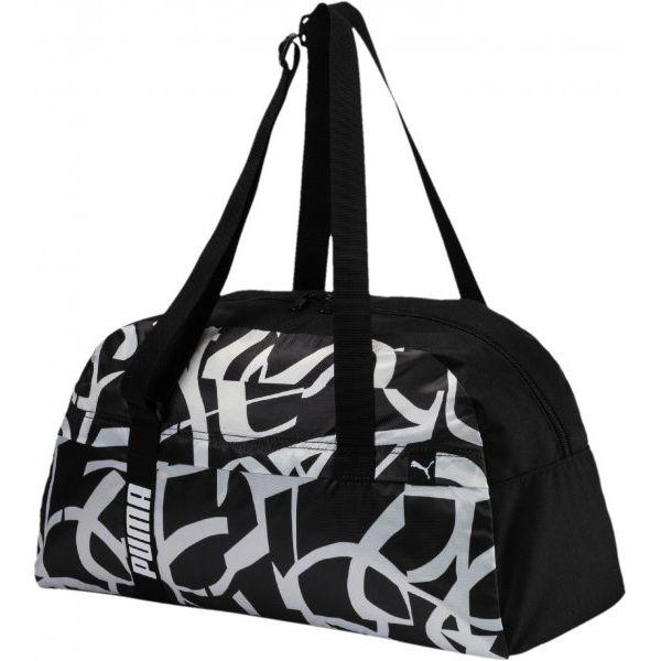 63b523e19697e Puma Torba Sportowa Core Active Sportsbag M Black - Czarne torby ...