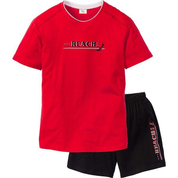 bff66e5bb6e2e6 Piżama z krótkimi spodenkami bonprix czerwono-czarny - Piżamy męskie ...