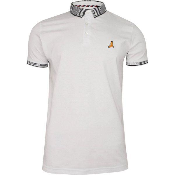 Biała Bawełniana Koszulka POLO Brave Soul Męska, Krótki Rękaw, z Kołnierzykiem, Sportowa TSBRSSS20GLOVERopticwhite