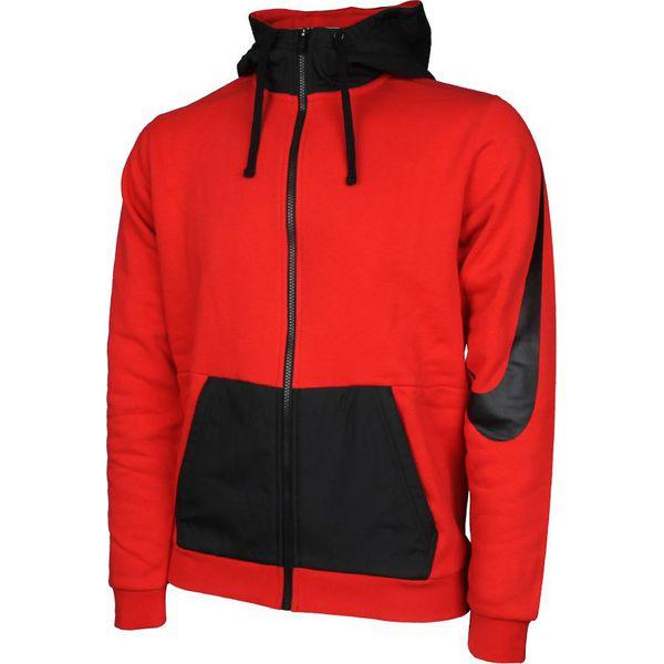 9810c4176636 Nike Bluza męska NSW Hoodie FZ MX czerwono-czarna r. S (804714 657 ...