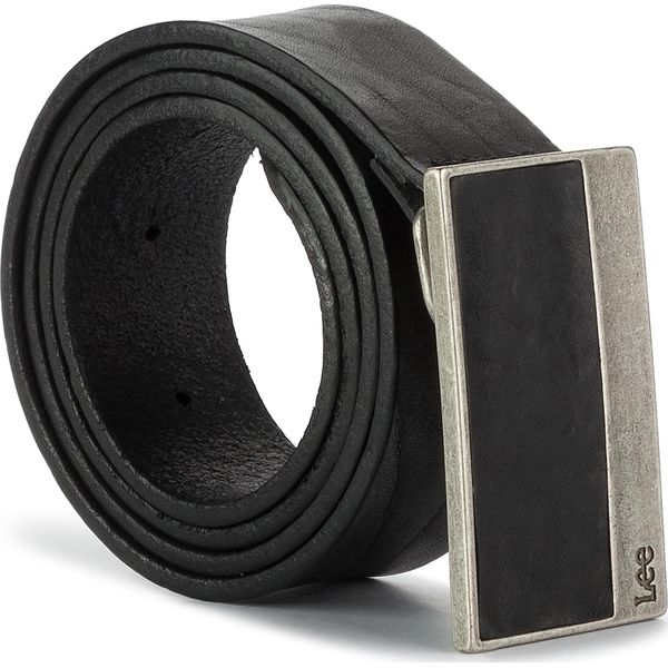 cf1912dd2b6fec Pasek Męski LEE - Buckle Belt LU035001 Black - Czarne paski męskie ...