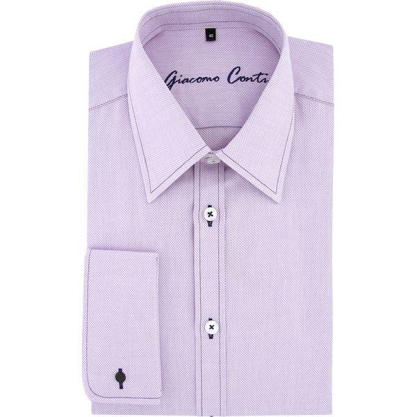 Koszula MARCO 15 10 08 K Fioletowe koszule męskie m, z  sj60z
