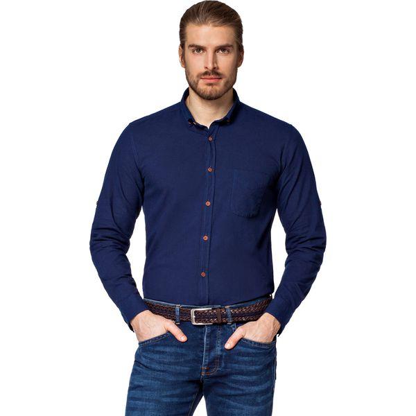 cbf4dff0f Koszula Jeansowa Granatowa Kenwood - Brązowe koszule męskie marki ...