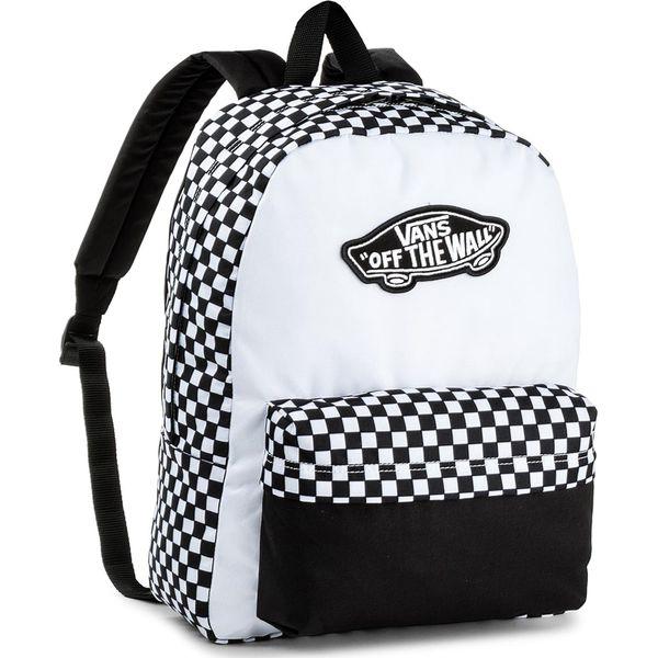 3ae41fd7e698f Plecak VANS - Realm Backpack V000NZ056M Black/White - Białe plecaki ...