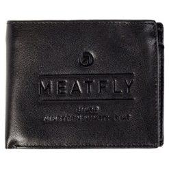 2d8051642a1ba Meatfly Portfel Męski Czarny Seaway. Czarne portfele męskie marki Meatfly,  ze skóry. W