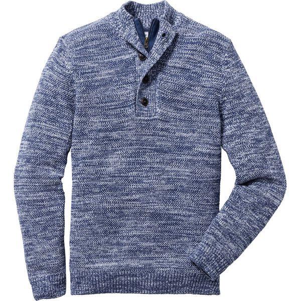 c26e477bf660 Sweter z plisą guzikową Regular Fit bonprix indygo wzorzysty - Swetry  męskie marki bonprix. Za 44.99 zł. - Swetry męskie - Bluzy i swetry męskie  - Odzież ...