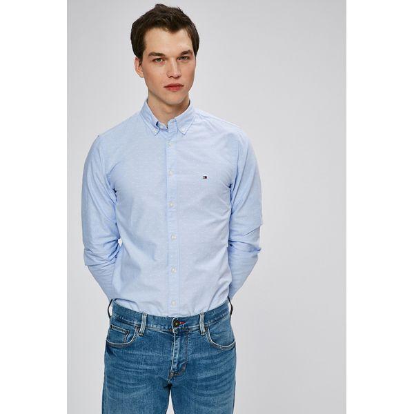 8a9156ed972f4 Tommy Hilfiger - Koszula - Szare koszule męskie marki Tommy Hilfiger ...