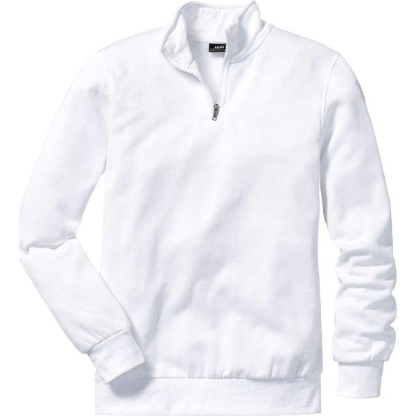 c437890373393b Bluza ze stójką Regular Fit bonprix biały - Białe bluzy rozpinane ...