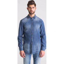 274d5d813ecaaf Jeansowa koszula męska. Niebieskie koszule męskie TRUSSARDI JEANS, m, bez  wzorów, z
