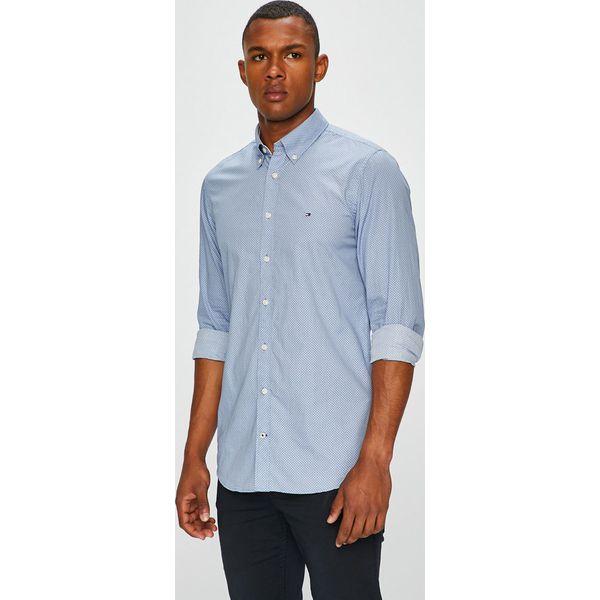 983b8f42926b3 Tommy Hilfiger - Koszula - Szare koszule męskie marki Tommy Hilfiger ...