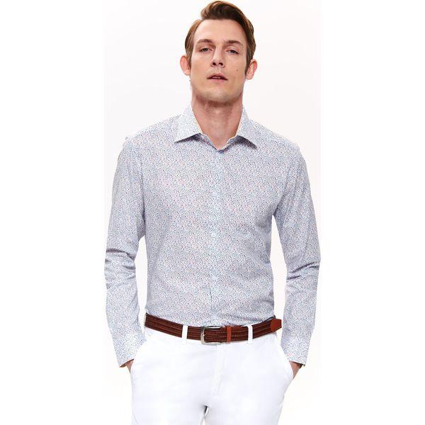 7b3342fb680359 KOSZULA WZORZYSTA DOPASOWANA - Białe koszule męskie TOP SECRET, na ...