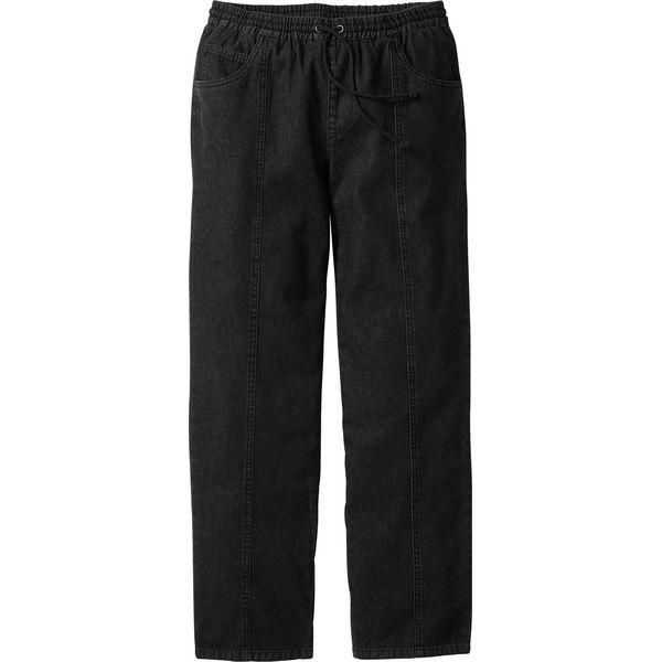 ed77a55b663114 Spodnie z gumką w talii Classic Fit bonprix czarny - Czarne jeansy ...