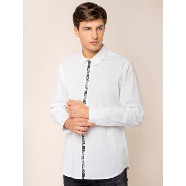 Koszula Karl Lagerfeld 605906 592600 Białe koszule męskie  oSmZo