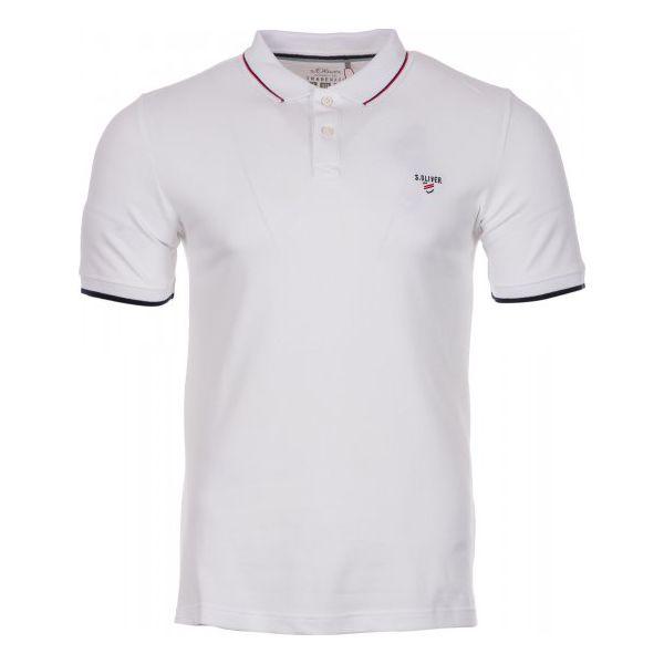 f092f37dd S.Oliver Koszulka Polo Męska L Biała - Białe koszulki polo męskie S ...