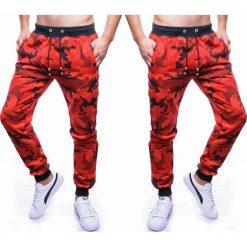 Spodnie męskie dresowe czerwone jogger Recea