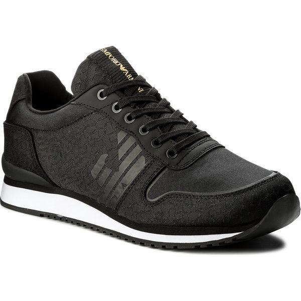 eb73fafd5423 Sneakersy EMPORIO ARMANI - X4X223 XL201 A792 Black Black Black - Czarne buty  sportowe na co dzień męskie marki Emporio Armani