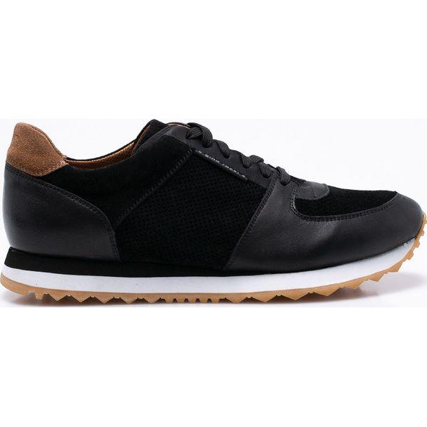 beff5724b8424 Gino Rossi - Buty Torino - Czarne buty sportowe na co dzień męskie ...