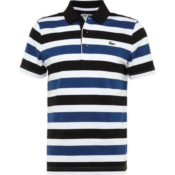 0aa6f9d4a Lacoste Sport STRIPED Koszulka polo noir/blanc/marino - Czarne ...