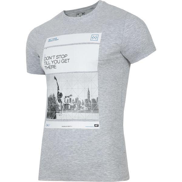 cc7034c67 T-shirt męski TSM027 - chłodny jasny szar - T-shirty męskie 4f. W ...