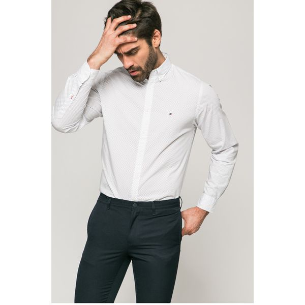 f6a8d8f85f9a1 Tommy Hilfiger - Koszula - Szare koszule męskie marki Tommy Hilfiger ...
