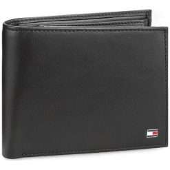 dbb2802e85618 Duży Portfel Męski TOMMY HILFIGER - Eton Cc Flap And Coin Pocket AM0AM00652  002. Portfele