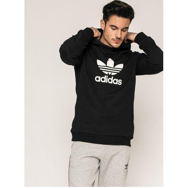 69de76fc42a44 adidas Originals - Bluza - Szare bluzy z kapturem męskie marki Adidas  Originals