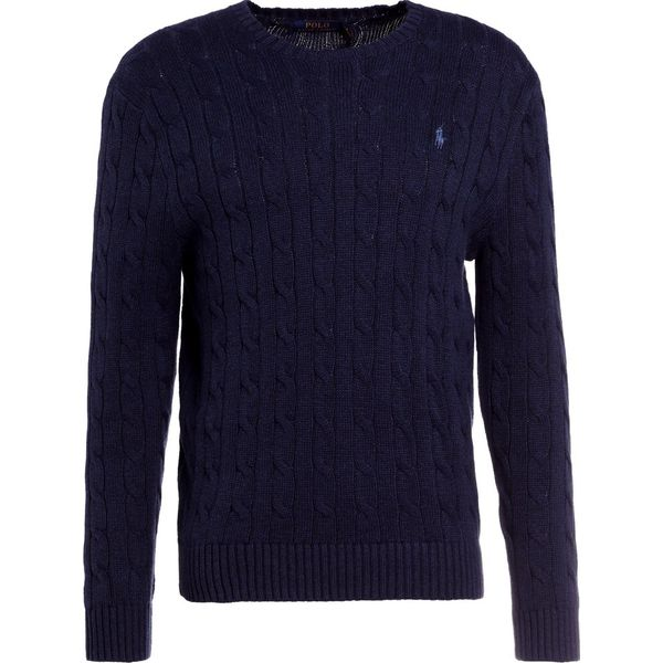 1fdf9181a Polo Ralph Lauren CABLE Sweter worth navy heather - Kardigany męskie ...