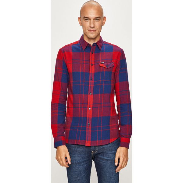 Wyprzedaż czerwone koszule męskie Wrangler, z długim  A7n9M