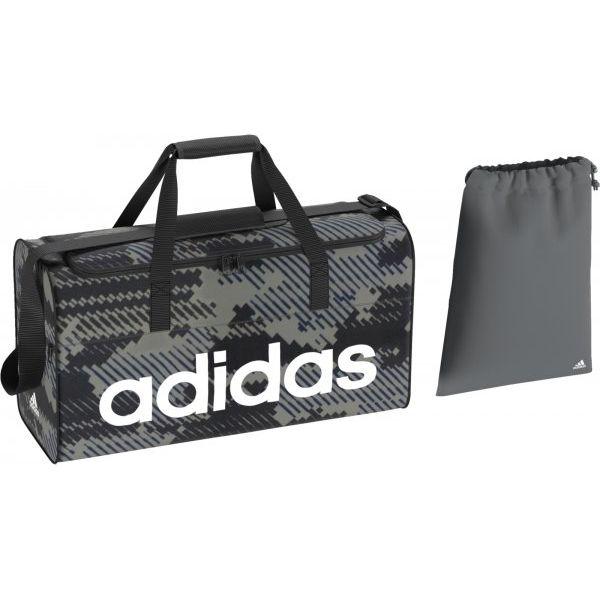 4f1bf756e3a56 Adidas Torba Sportowa Lin Per Tb M Gr Vista Grey/Black/White M - Białe torby  sportowe męskie marki ADIDAS, w paski, na ramię. W wyprzedaży za 105.00 zł.