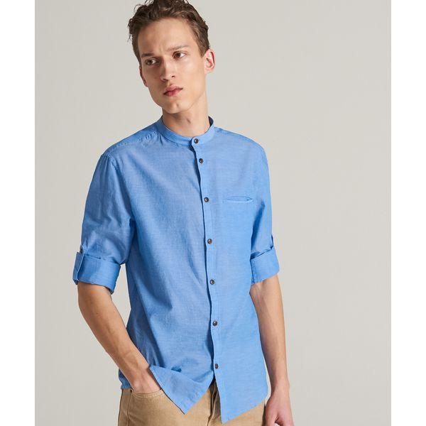 various colors fresh styles first look Koszula z bawełny organicznej - Niebieski